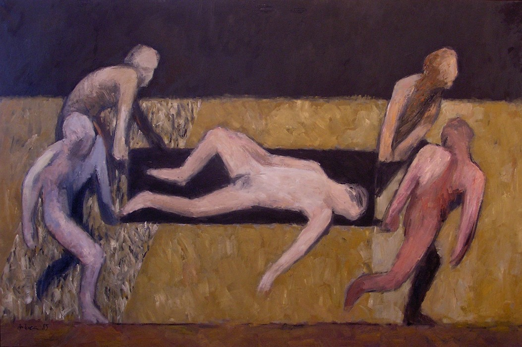 FERIT/HERIDO/WOUNDED.  1985.  Oli sobre tela/Óleo sobre tela/Oil on canvas.  130x195 cm.