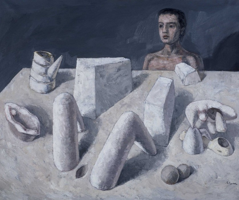 OBJECTES/OBJETOS/OBJECTS.  1989.  Oli sobre tela/Óleo sobre tela/Oil on canvas.  114x146 cm.