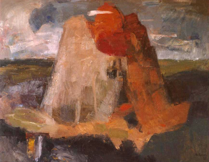 LA TORRE DE BABEL/THE TOWER OF BABEL.  1987.  Oli sobre tela/Óleo sobre tela/Oil on canvas.  114x146 cm.